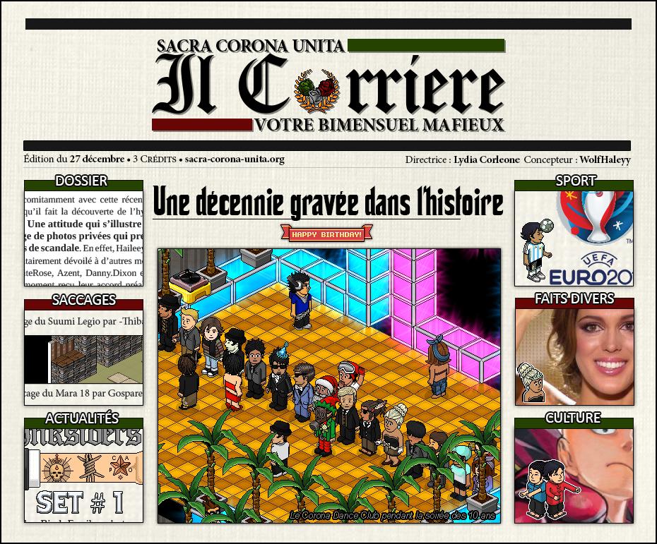 Il Corriere N°6 du 27 décembre 2015 151227103554393979