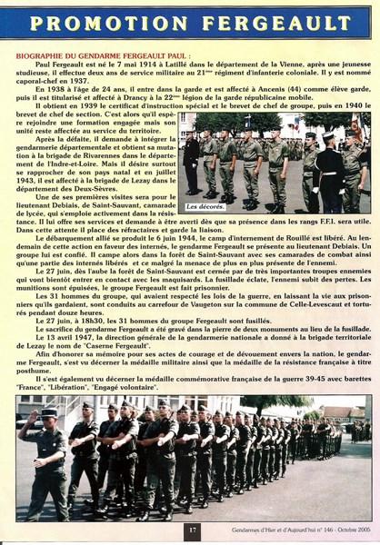 En l'honneur du Gendarme Paul Fergeault de Lezay (79120) 151229055824510776