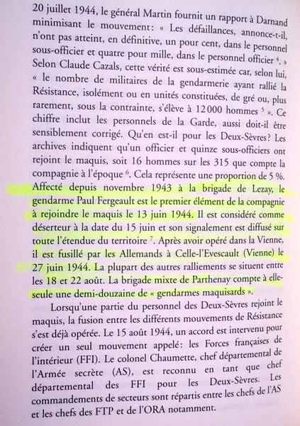 En l'honneur du Gendarme Paul Fergeault de Lezay (79120) 151229055836613921