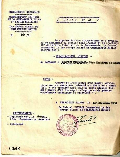 Création  des Premières acrobaties Motos en 1952 151231045919319529