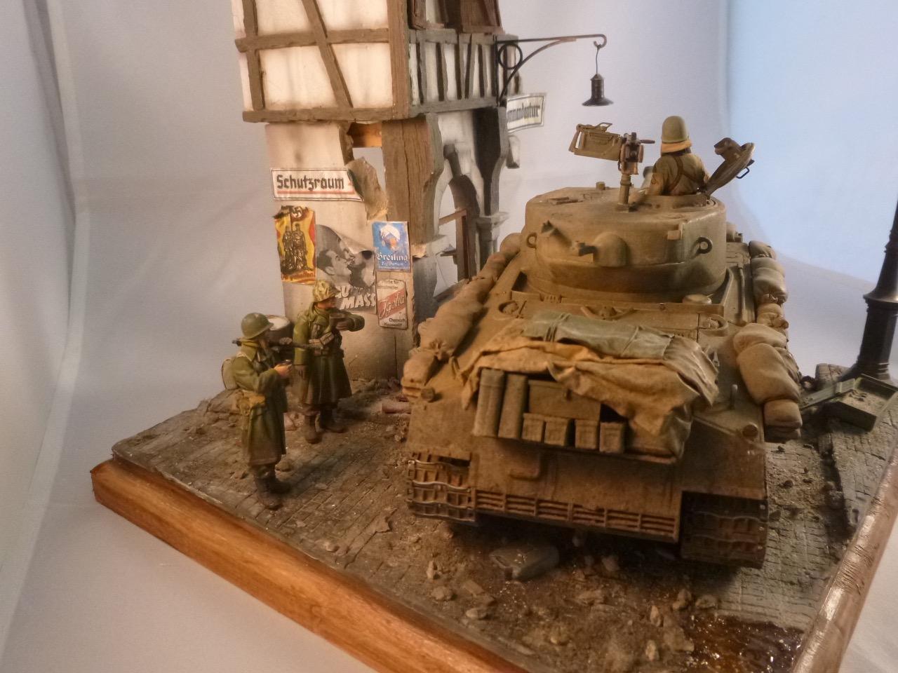 """Diorama """" Entrée des GI en Allemagne"""" terminé 151231120727946505"""