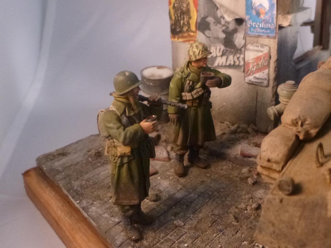 """Diorama """" Entrée des GI en Allemagne"""" terminé 151231120801183831"""