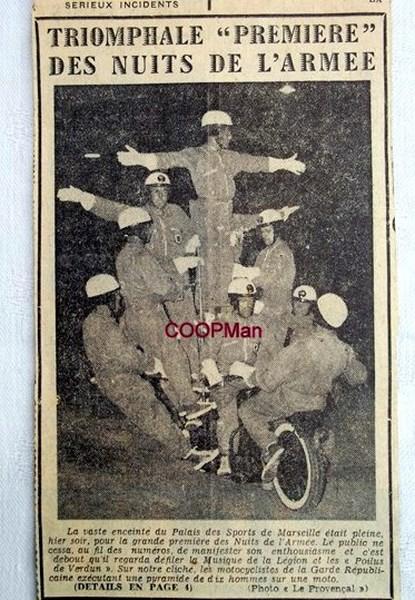 Création  des Premières acrobaties Motos en 1952 160102115657738435