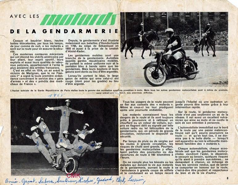 Création  des Premières acrobaties Motos en 1952 160103125825834617