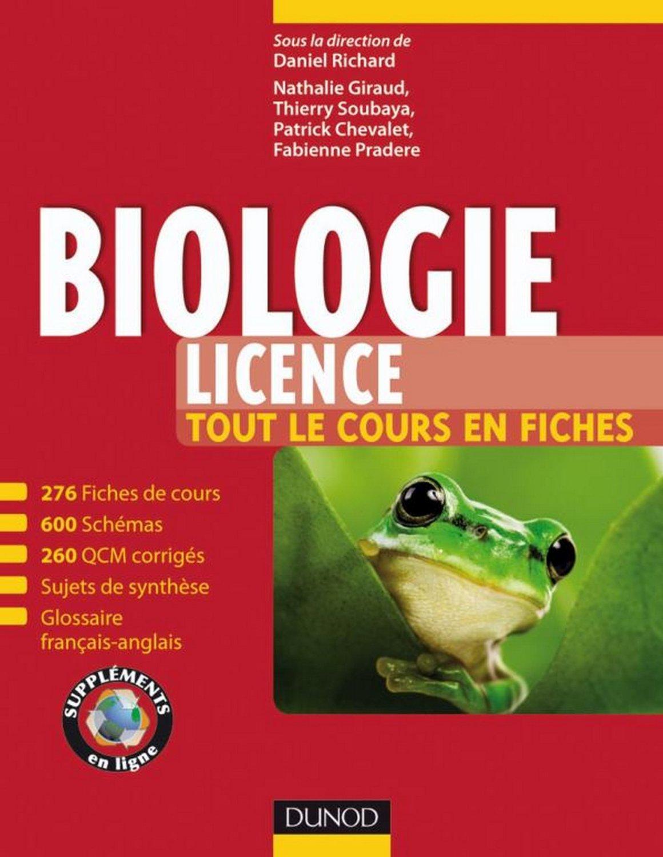 Biologie (Licence) -Tout le cours en fiches, QCM et bonus web