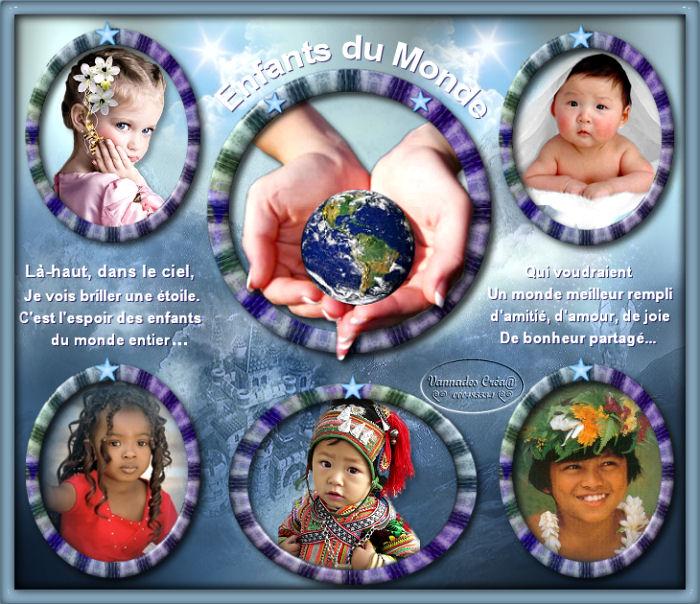 """20 """" Enfants du Monde"""" tuto de vannades cré@ 160111055236830267"""