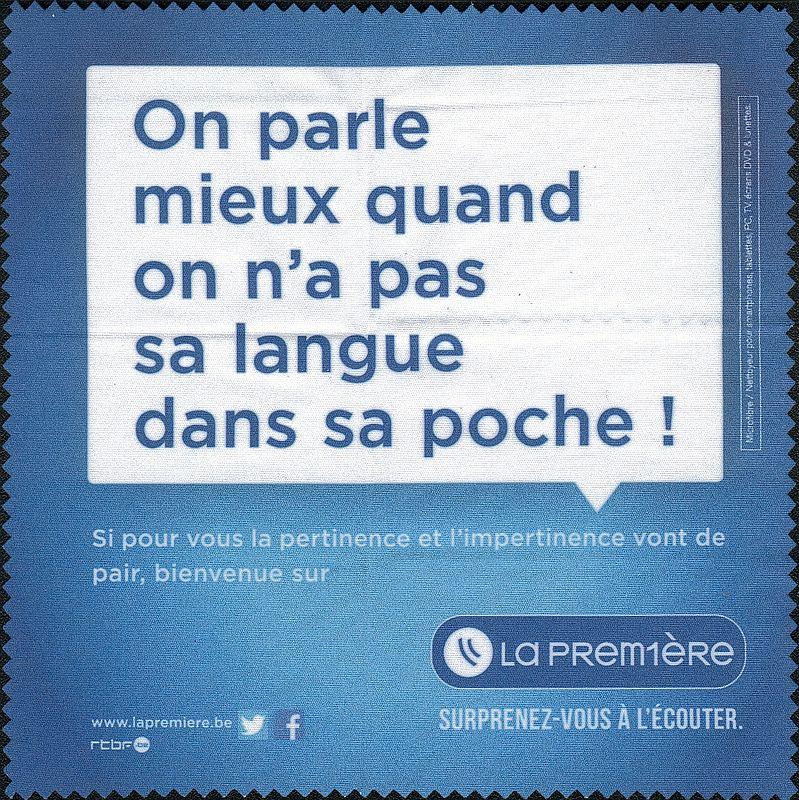 """QSL RTBF """" La Première """" 160130052138788884"""