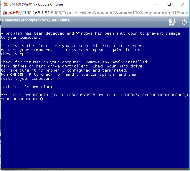 SOLVED] - BSOD Windows Server 2008 qemu in Proxmox ve 3 4