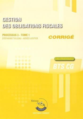 Gestion des obligations fiscales : Processus 3 T1 Corrigé