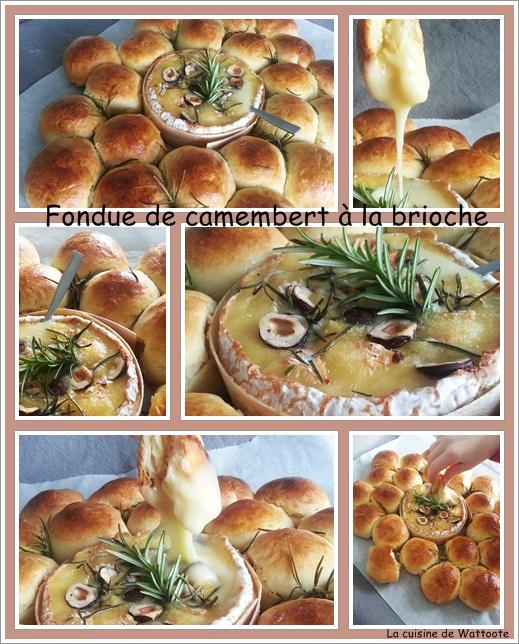 fondue camembert brioche