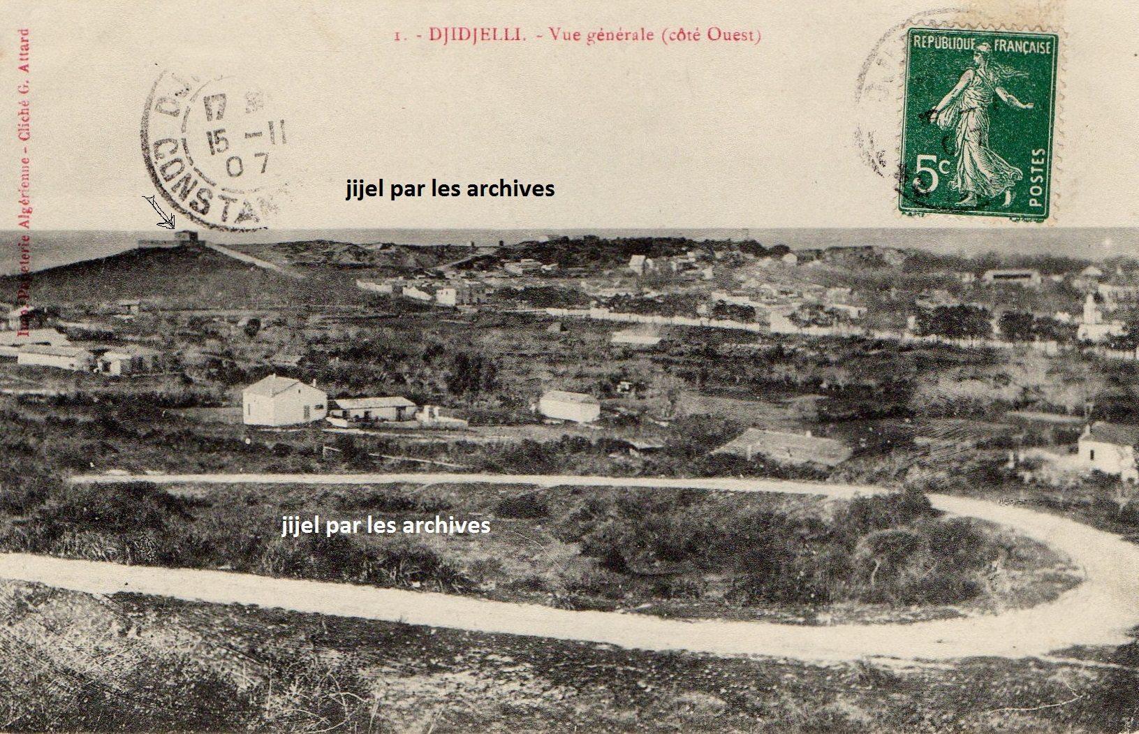 Djidjelli fin du 19éme siècle le fort saint ferdinand comme lappelaient les anciens barchetti bordj echatti actuellement appelée eqlaa