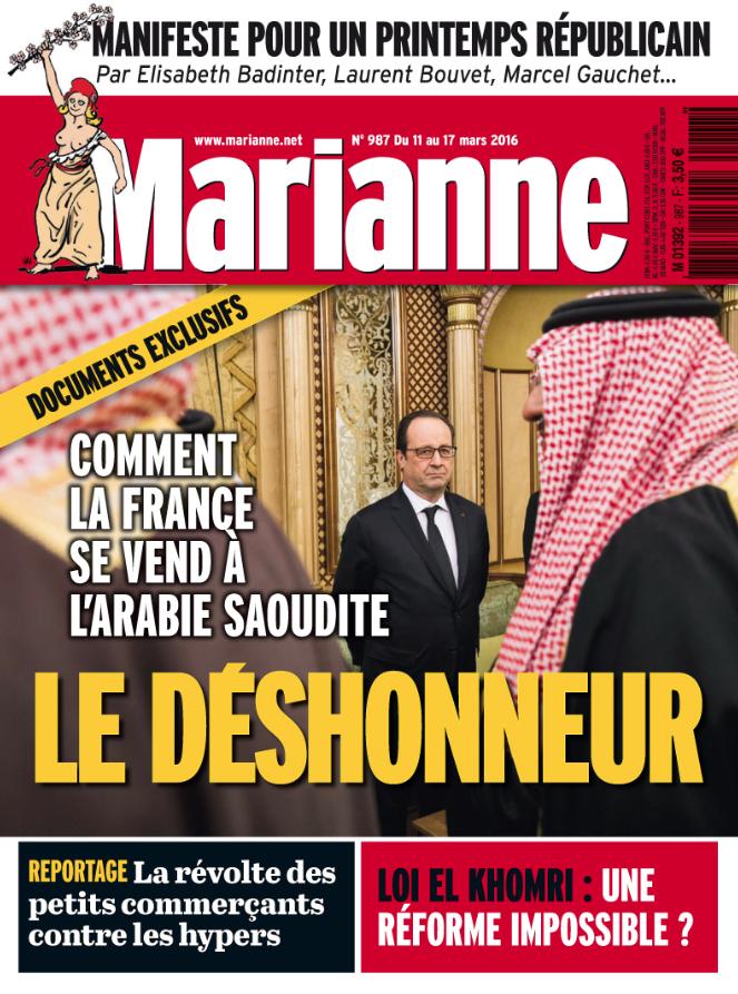 Marianne N°987 du 11 au 17 Mars 2016