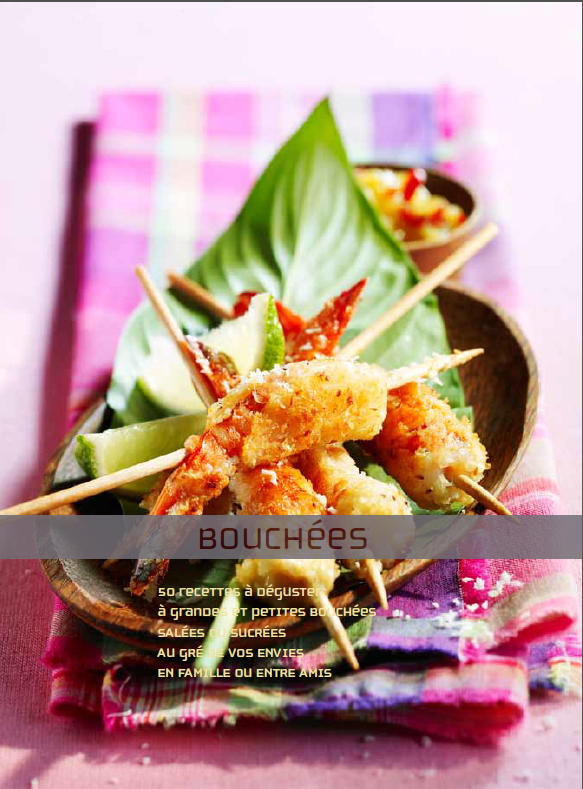 télécharger Bouchées - 50 recettes à déguster (sucrées - salées)