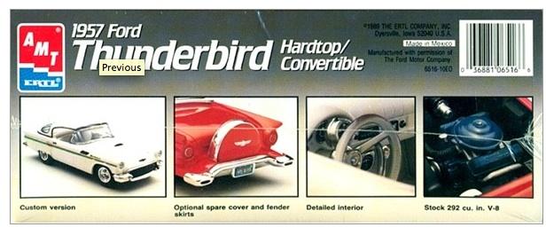 cherche hard top custom Ford Thunderbird 1957 AMT  160317054637760386