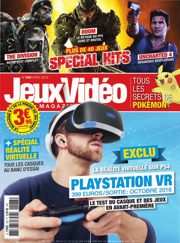 Jeux Vidéo magazine N°183 - Avril 2016