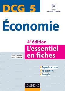 DCG 5 - Economie : L'essentiel en fiches (4e éd)