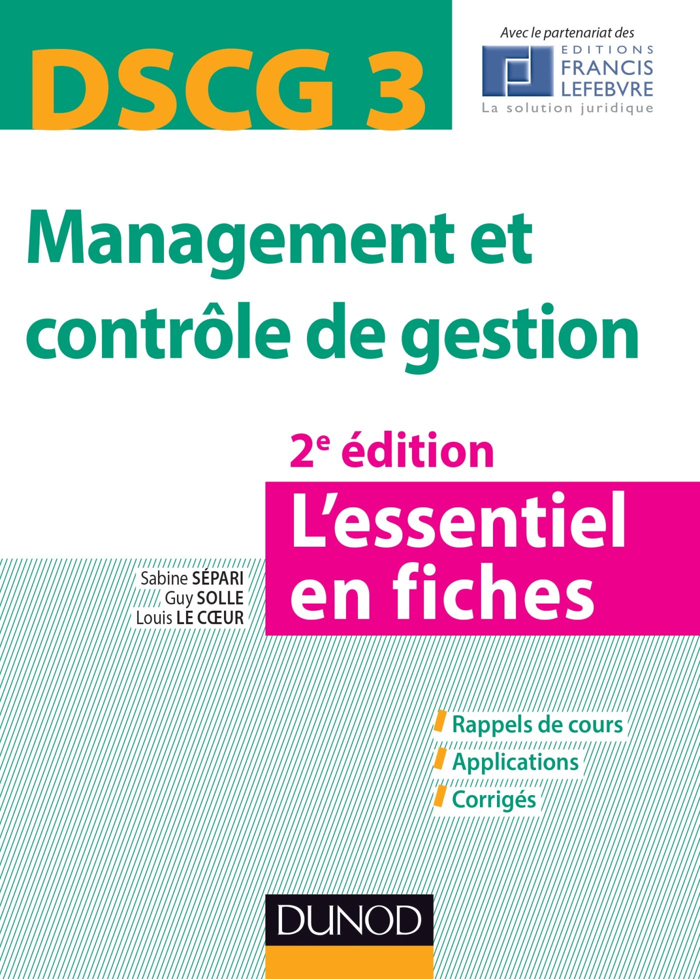 DSCG 3 - Management et contrôle de gestion : L'essentiel en fiches