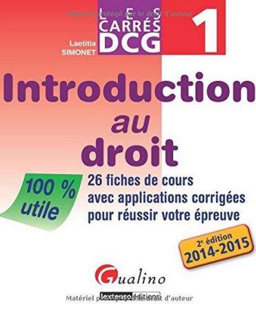 télécharger Carrés DCG 1 - Introduction au droit - Gualino