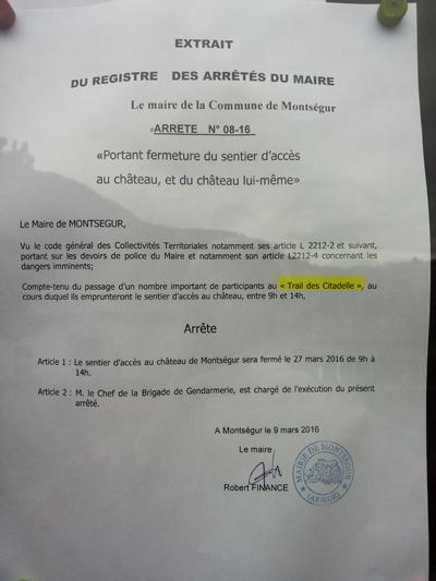 Montségur : un arrêté bien singulier.... dans Actualité locale 160402093259222258