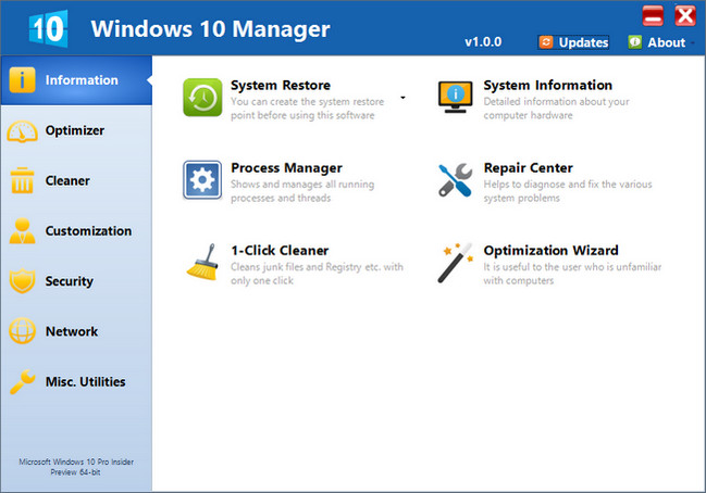 Yamicsoft Windows 10 Manager 1.1.0