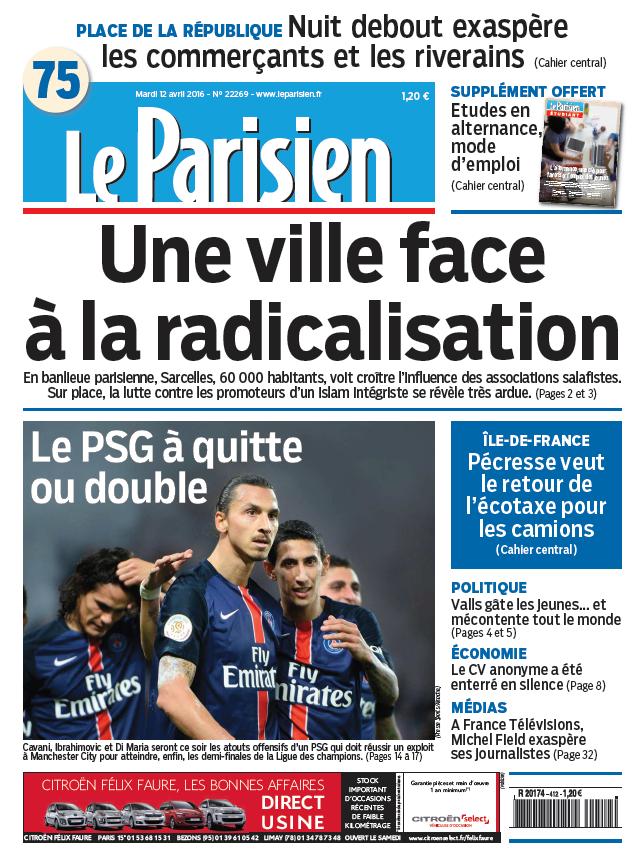 Le Parisien   Journal de Paris du Mardi 12 Avril 2016