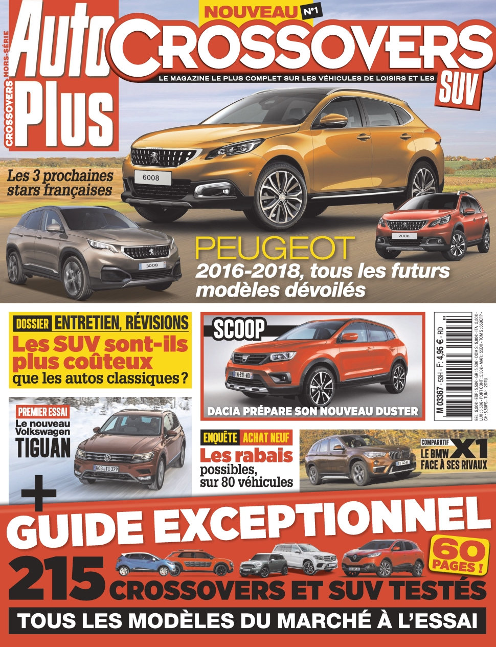 Auto Plus Hors Série Crossovers N°1 - 2016