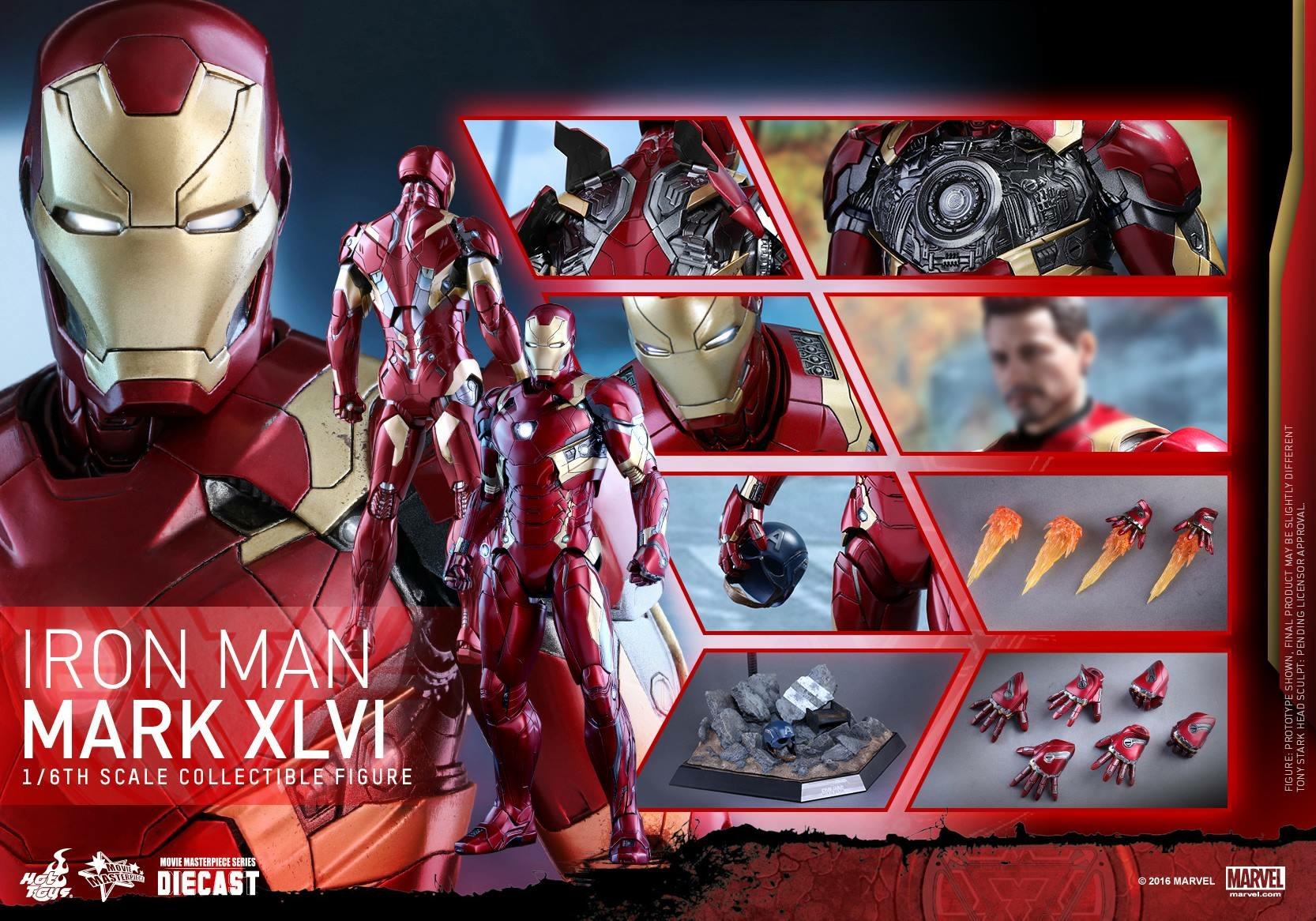 CAPTAIN AMERICA : CIVIL WAR - IRON MAN MARK XLVI (MMS353DC16) 160419024100564699