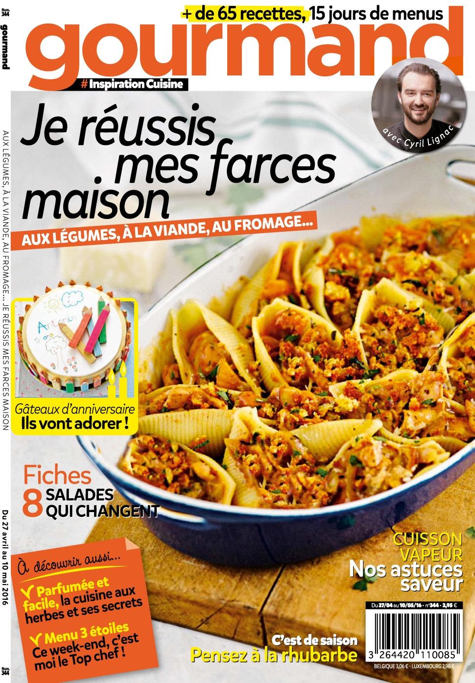 Gourmand N°344 - 27 Avril au 10 Mai 2016