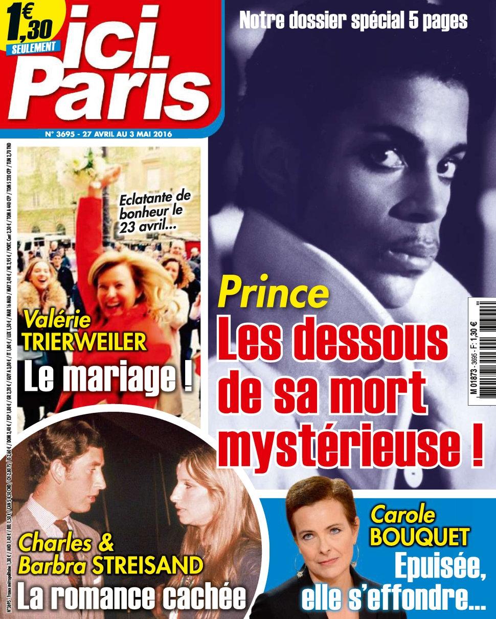 Ici Paris N°3695 - 27 Avril au 3 Mai 2016