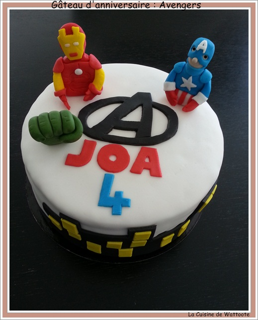 gâteau anniversaire  avengers