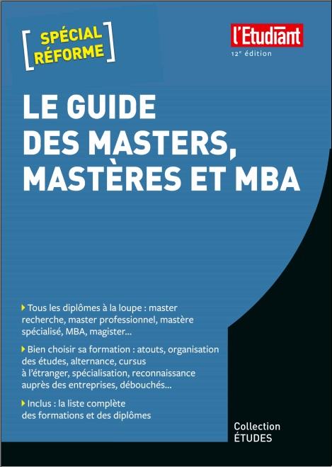 télécharger Le guide des masters, mastères et MBA