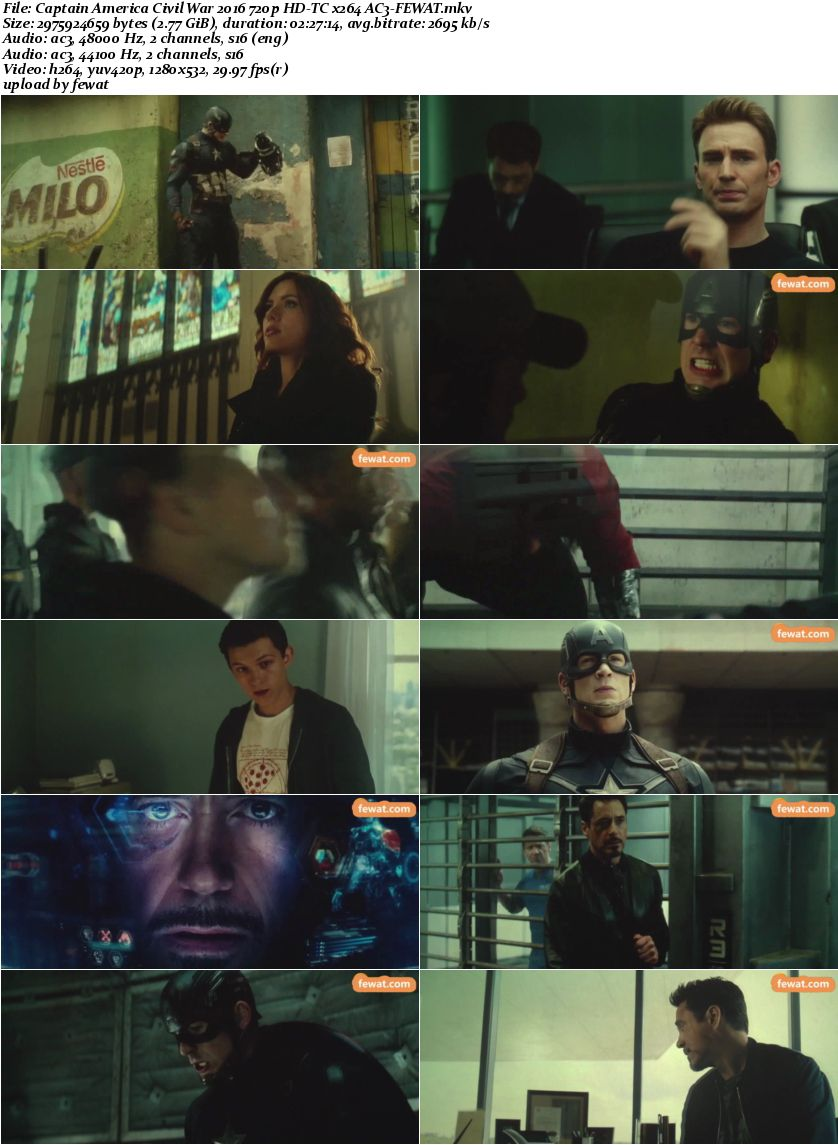 Captain America Civil War 2016 720p HD-TC x264 AC3-FEWAT