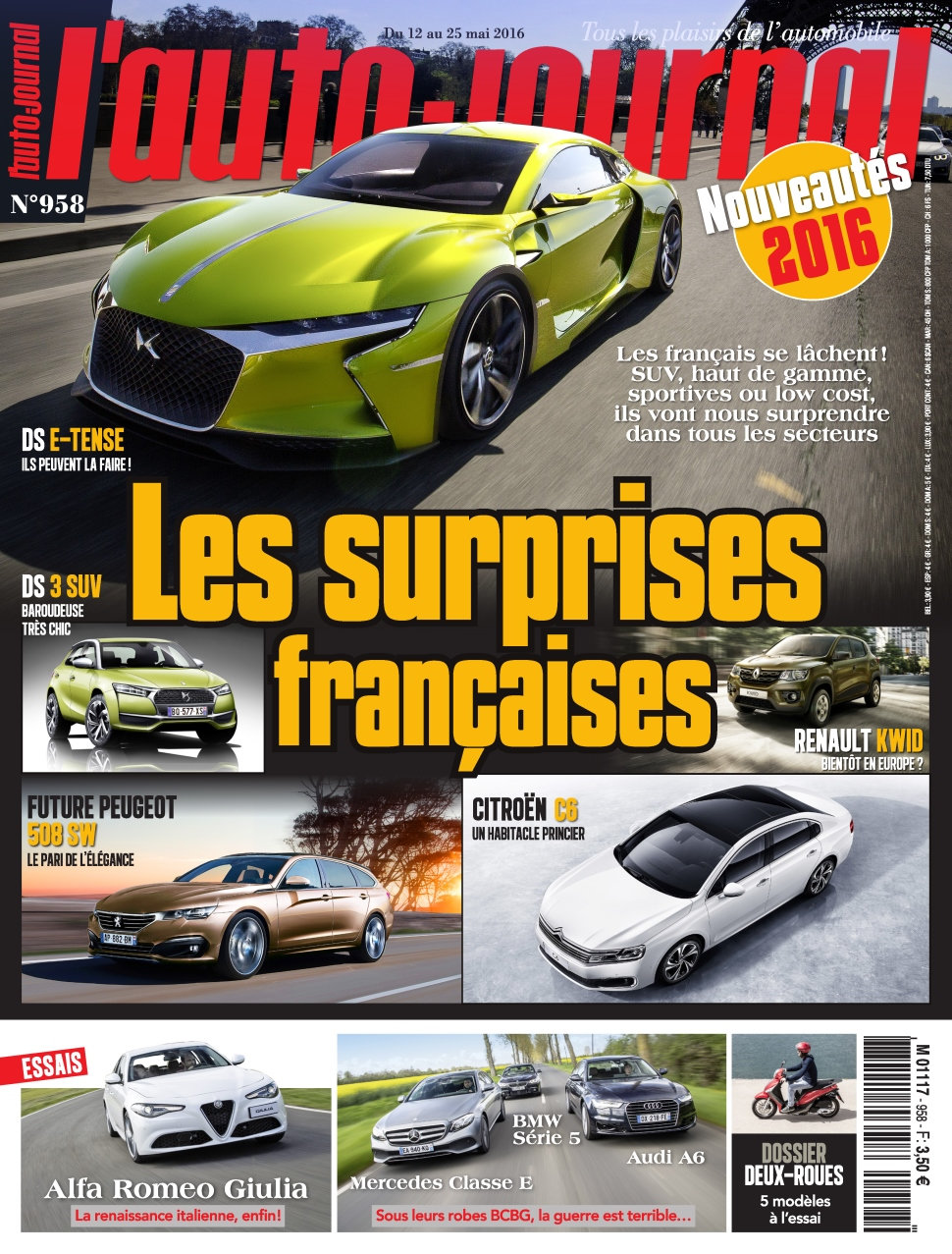 L'Auto-Journal N°958 - 12 au 25 Mai 2016