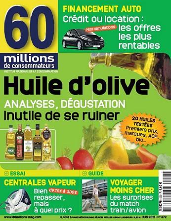60 Millions de Consommateurs No.472 - Huile d'olive : analyses, dégustation