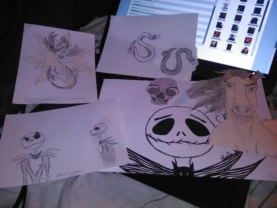 Je vous présente alors quelques dessins