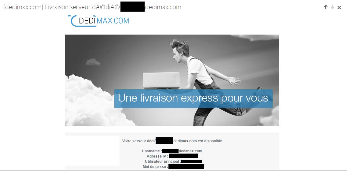 mail recu à la souscription d'un mail