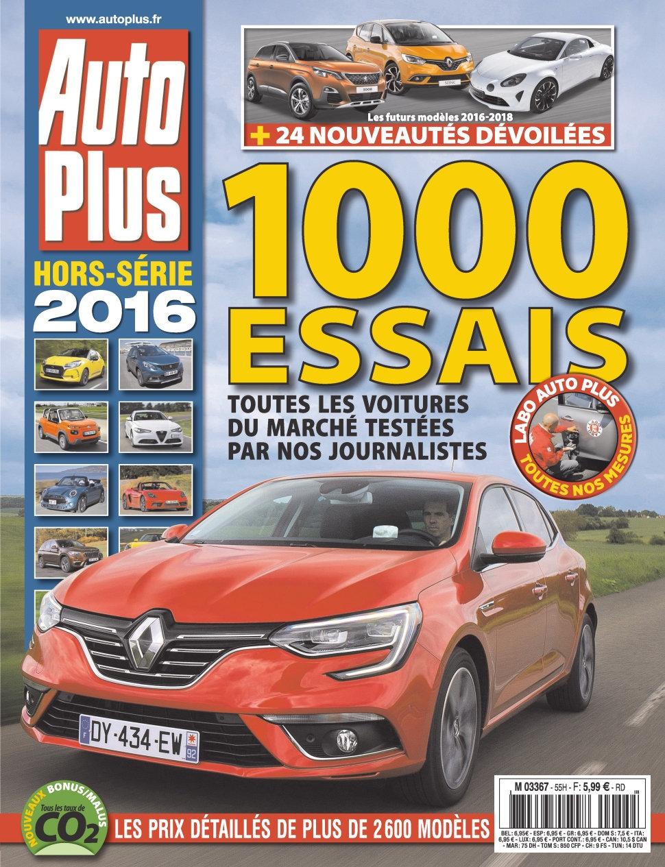 Auto Plus Hors-Série N°44 - 1000 Essais 2016