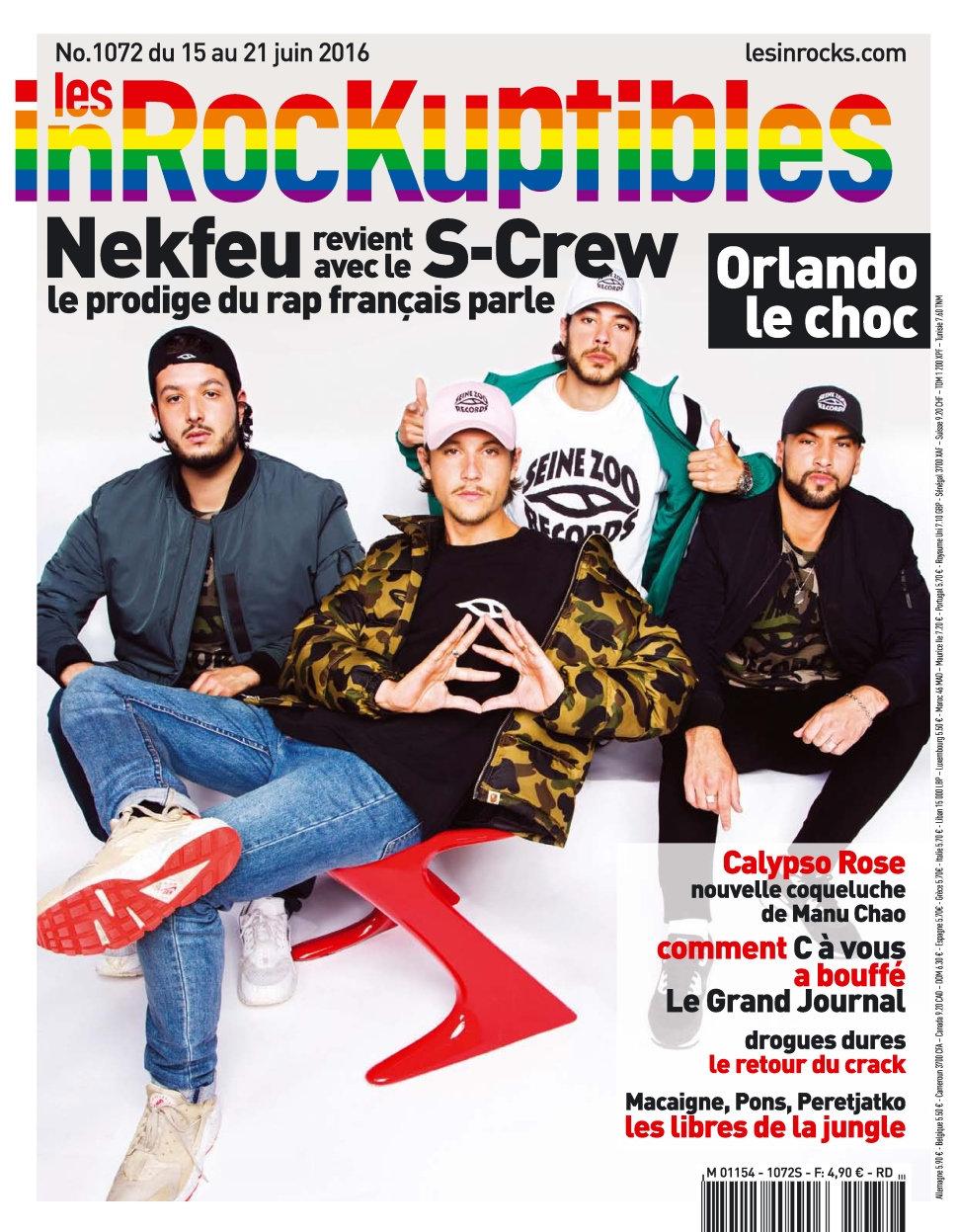Les Inrockuptibles N°1072 - 15 au 21 Juin 2016