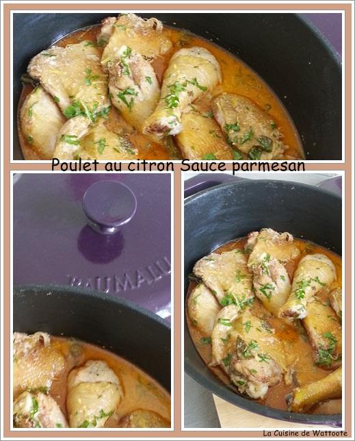 Poulet citron et  parmesan
