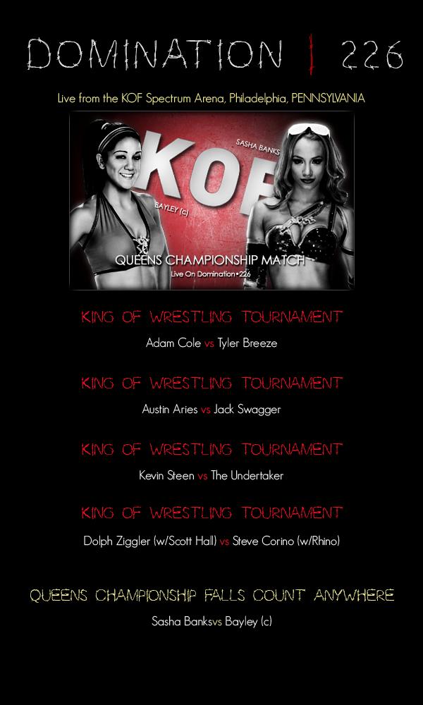 Thursday Night Domination # 226 : King Of Wrestling Tournament Night 2 160619121345339808