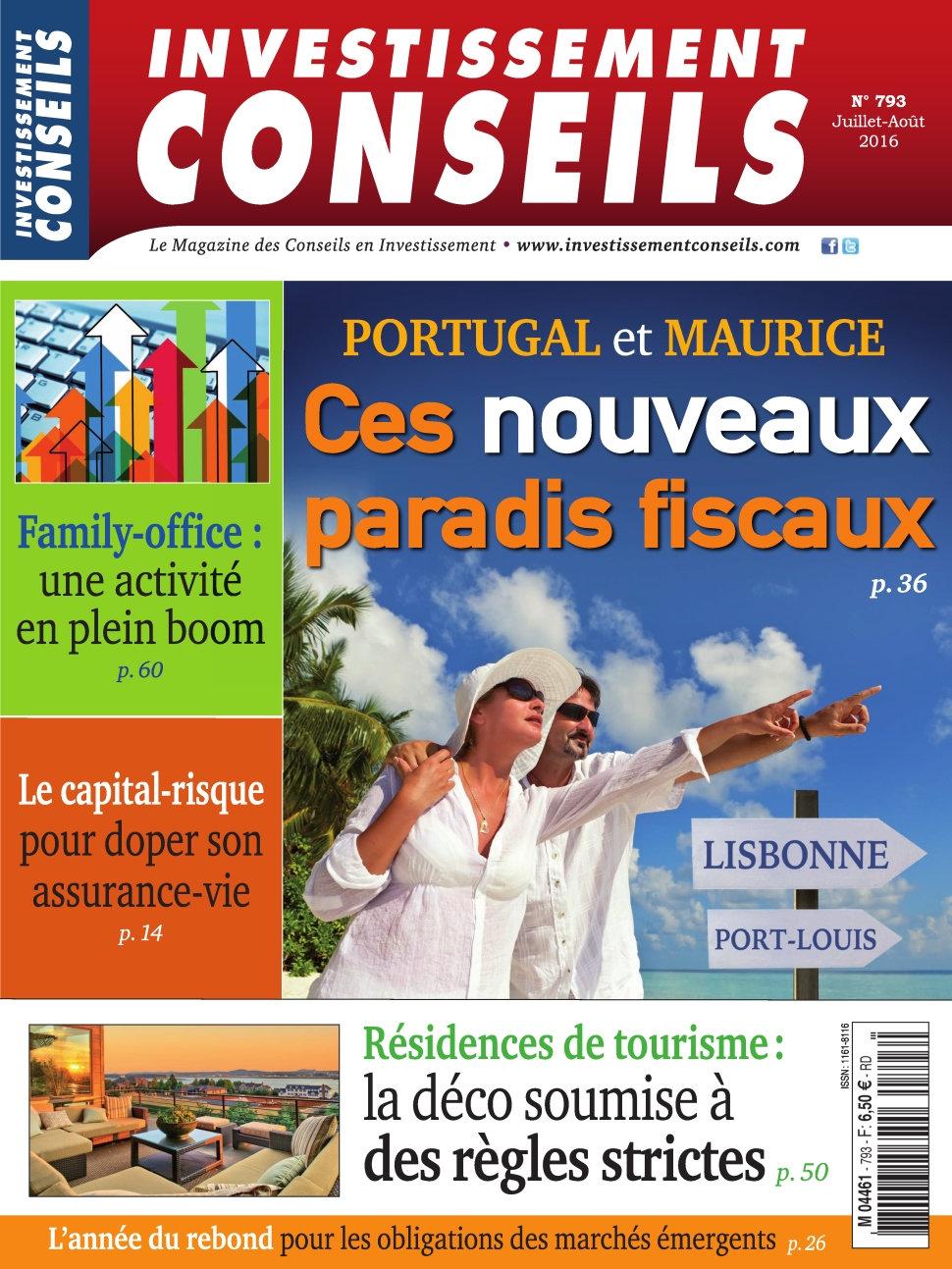 Investissement Conseils N°793 - Juillet/Aout 2016
