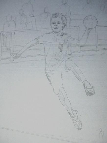 Poussin handballeur (dessin 2)_1