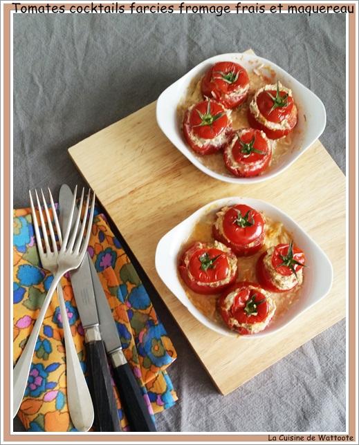 tomate farcie fromage frais maquereau