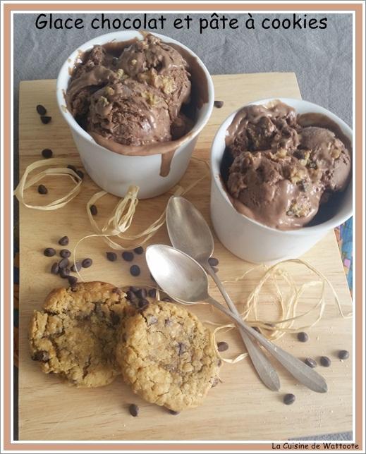 glace chocolat pâte à cookies