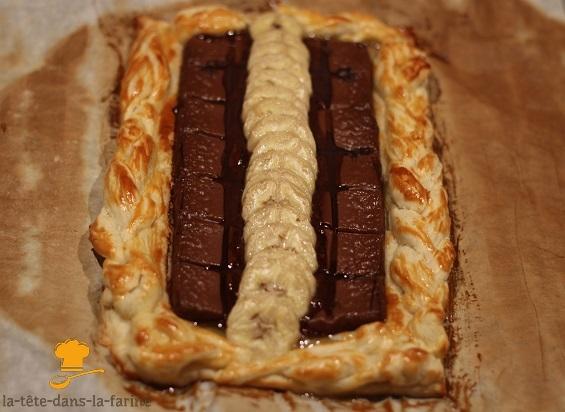 Tarte fine Choco/banane/Chamallows