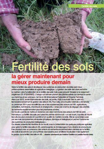 Fertilité des sols - Cadillon Adeline - Fourrié Laetitia
