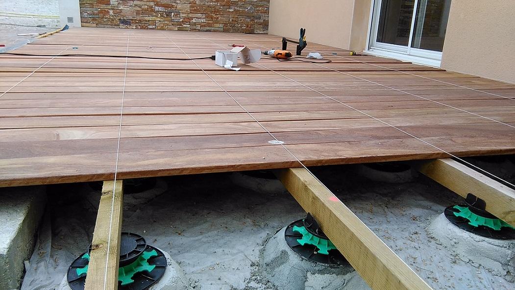 Co t terrasse bois sur graviers 15 messages - Geotextile sous terrasse bois ...