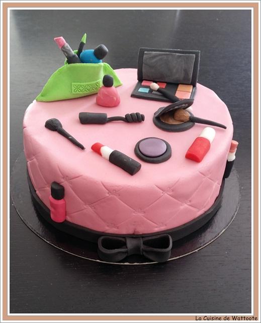 gâteau maquillage