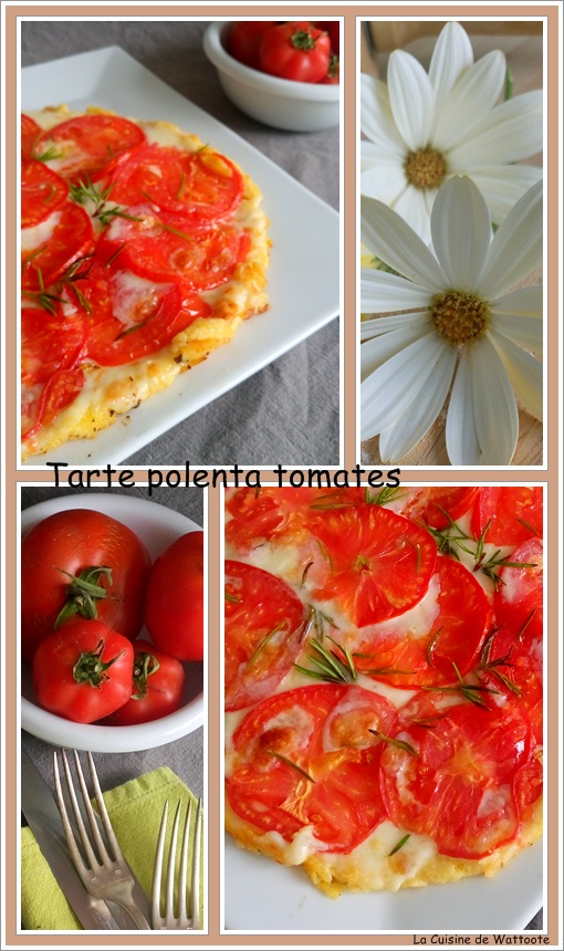 tarte polenta tomate