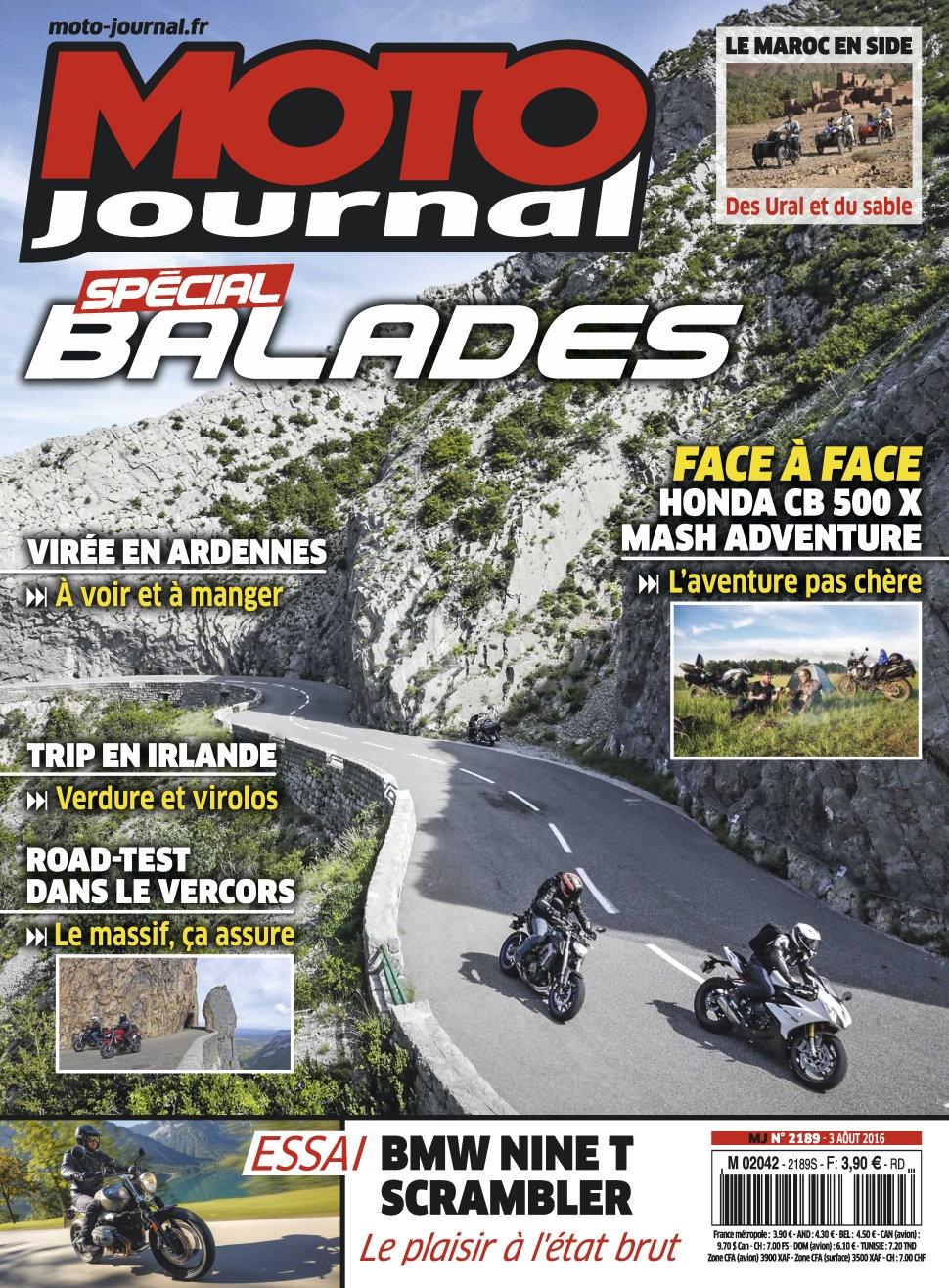 Moto Journal N°2189 - 03 Août 2016